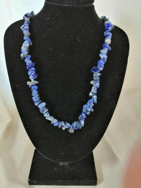 "Sodalite Chip Necklace 16"" to 34"", Long Necklace, Short Necklace"